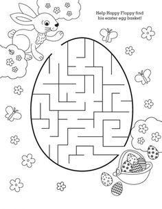 Free Easter Printable - Help Hoppy find his Easter egg basket in this a-mazing coloring activity for kids! Easter activities Add an A-MAZE-ing Addition to Your Easter Basket – FREE Printables Easter Colouring, Coloring Pages For Kids, Coloring Books, Kids Coloring, Coloring Sheets, Free Coloring, Easter Worksheets, Easter Printables, Free Printables