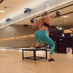Booty circuit: Jump squats with squat pulse 12reps (this is a very low box so jumping with weight on your back is safe. Do not try with a higher box), uneven squat pulse 12-15reps, single leg bridge w smith machine 12reps Drinking my @ehplabs BCAA's during my workout to increase endurance, stay hydrated and reduce soreness. Use my code amanda10 for 10%off ehplabs.com