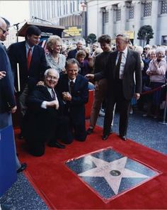 Billy Graham is honored with a star on the Hollywood Walk of Fame, I loved how he described the experience of this secular event. :)))