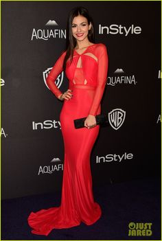 Zoe Kravitz & Charli XCX Show Off Major Skin at InStyle's Golden Globes 2016 After Party!: Photo #3549567. Zoe Kravitz looks beautiful in a gold lace and sheer dress while on the carpet at InStyle & Warner Bros. After Party following the 2016 Golden Globe Awards at…