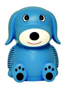 Buddy the Dog Pediatric Compressor Nebulizer is perfect for your child suffering from asthma * Quiet and easy to use  with a terrific child friendly design * Durable  high power compressor system can dispense all types of medication quickly and effectively *offers a 5-Year warranty and comes complete with a disposable nebulizer with a mouthpiec T 7Ê tubing  a 6' reservoir as well as a pediatric aerosol mask * Pressure 35 psi * Dimensions 9.25  x 6.75  x 6  * Warranty 5 year SEARCH #4452…