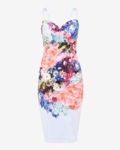 d5530c2c0519d5 Focus Bouquet midi dress - Pale Blue