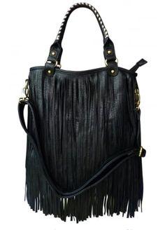 LYDC London Long Fringe Bag | Attitude Clothing