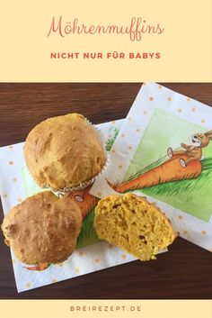 Vegane zuckerfreie Möhrenmuffins mit Apfel schmecken wunderbar saftig und eignen sich für das Baby als Zwischenmahlzeit oder im Rahmen von BLW bereits ab dem Beikostbeginn. Hier geht es zum Rezept, das nicht nur zu Ostern schmeckt: http://www.breirezept.de/rezept_moehrenmuffins.html