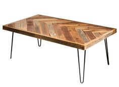 Shop a great selection of Barn wood herringbone coffee table metal hairpin legs. Find new offer and Similar products for Barn wood herringbone coffee table metal hairpin legs. Chevron Coffee Tables, Coffee And End Tables, Rustic Coffee Tables, Coffe Table, Coffee Table Design, Rustic Table, Reclaimed Wood Furniture, Rustic Furniture, Table Furniture