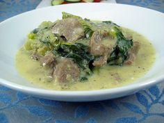 arni frikase - greek lamb stew frikase