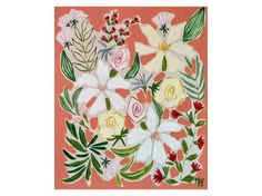 Flower Painting. Flowers from Bernia. Floral Wall by Lunartics