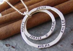 Double eternity ring hand stamped personalized by cinnamonsticks, $60.00