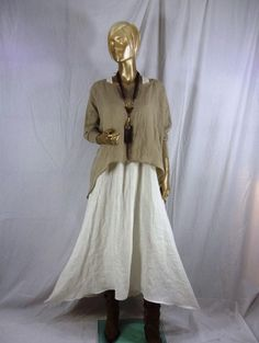 Lagenlook, top, washed linen, beige,  plus size, shabby chic, summer, tunic,  Sizes XS-5XL. Free shipping in USA by itbecomesyou on Etsy https://www.etsy.com/uk/listing/272224902/lagenlook-top-washed-linen-beige-plus