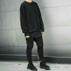 Neue Outfits, Edgy Outfits, Grunge Outfits, Cool Outfits, Fashion Outfits, Black Outfits, Laurence Martin, Moda Indie, Korean Fashion Men