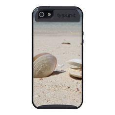 Seashells on sandy Caribbean beach close-up iPhone 5 Covers