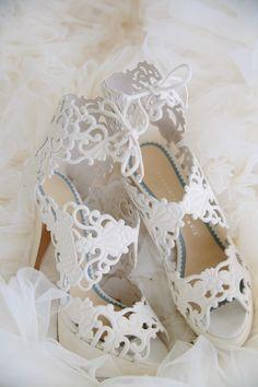 White Bridal Heels | Charlotteolympia.com | Tory Williams Photography | TheKnot.com