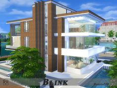 The house includes: Found in TSR Category 'Sims 4 Residential Lots' Lotes The Sims 4, Sims Cc, Sims 4 Modern House, Los Sims 4 Mods, Play Sims 4, Sims 4 House Building, Georgian Style Homes, Luxury Modern Homes, Sims House Design