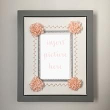 Items similar to The Emma Display Frame-Hand Embroidered Silk Ribbon Flower Picture Frame on Etsy Flower Picture Frames, Wood Picture Frames, Wedding Programs, Wedding Invitations, Creative Wedding Gifts, Birth Announcement Boy, Photo Corners, Silk Ribbon, Ribbon Flower