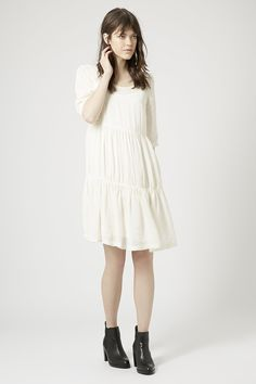 TALL Tiered Crinkle Smock Dress - Topshop