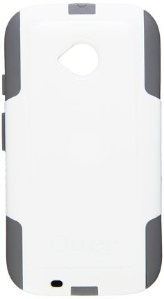 Otter Products Commuter Case for Moto E 2nd Gen/4G LTE - Retail Packaging - Glacier (White/Gunmetal Grey). Thin, lightweight 2-piece slider case provides protection against drops, bumps and shock. Self-adhesive screen protector guards against scratches. Port covers block entry of dust and debris. Slides easily in and out of pockets.