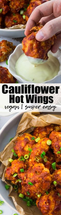 These BBQ cauliflower hot wings are the perfect party food! They're so tangy, spicy, and incredibly comforting. And they're also a lot healthier than chicken wings!