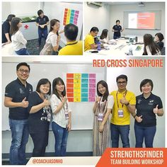 #StrengthsFinder #TeamBuilding #Workshop for #Singapore's #RedCrossSg at 15 Penang Lane (Red Cross House). Together with Gallup-Certified StrengthsFinder Coach Tan MeiLing we shared about how to use StrengthsFinder as a starting point in understanding how our team members think.   I am extremely proud of how MeiLing shared with her #Learner and #Belief. Her conviction towards the participant's learning is truly admirable! And as always her #Responsibility was there to push her rapid growth…