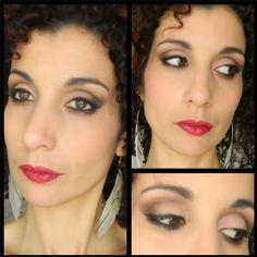 Makeup dans les tons neutres avec les fards Makeup Geek et l'encre à lèvres Rouge Infusion de Sephora