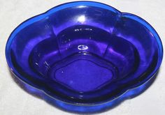 Antique 19th-18th Cent Chinese Cobalt Blue Peking Glass Bowl
