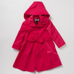 Little Girl Ruffle Waterfall Front Coat - Rothschild Kids Spring Outerwear - Events