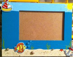 Wooden underwater theme photo frame by everythingshandmade on Etsy, $25.00