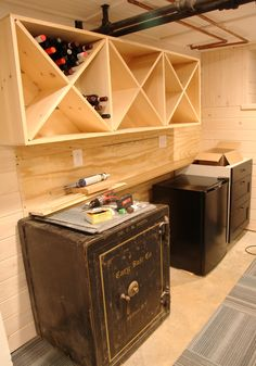 Our Basement Part 56: Wall Mounted Wine Rack | Stately Kitsch