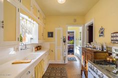 Vintage Kitchen inside The Harry J. Felch House a Dutch Colonial in Roosevelt District Phoenix for sale at $985K and its beautiful inside - check it out!