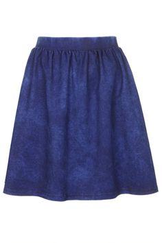 Denim Look Flippy Skirt- Topshop