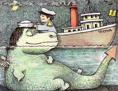 Maurice Sendak, As I Went Over the Water, 1965, thanks to a wonderful series of posts  on my vintage book collection (in blog form)