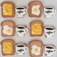 Eggs On Toast Food Cookies   Kikko