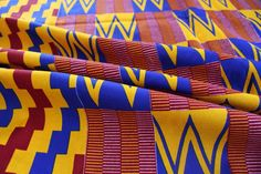 Kente Print Fabric - Ankara African Print - African Fabric - Wax Print Fabric - African Print - Fabric per yard by EtamStudio on Etsy Ankara Fabric, African Fabric, Unique Outfits, Crafts To Make, Printing On Fabric, Wax, Cotton, Etsy, Fabric Printing