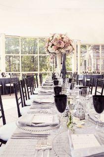 Wedding at Newton White Mansion - long tables