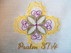 Psalm 37:4  4x4  Art interpretation from: Delight yourself in the Lord and he will give you the desires of your heart  $2.00