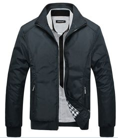 Men's Jacket Autumn&Winter Overcoat Warm 2015 New Arrival Stand and Slim Casual Style Whole Sale MWJ687