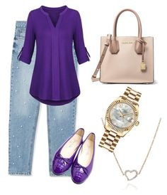 """""""Untitled #106"""" by wendywallbankwittmayer on Polyvore featuring MANGO, MICHAEL Michael Kors, Annoushka and Rolex"""