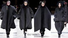 Yohji Yamamoto black puff coats AW14