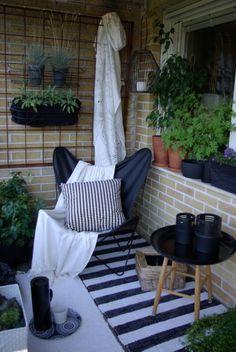 I like the idea of having a carpet in the balcony, makes the balcony cosy #outdoor #balcony #home