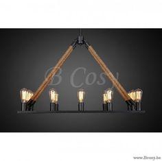 XX-PR Interiors Arthur middeleeuwse luchter in Metaal En Koord Met 12 Lampen