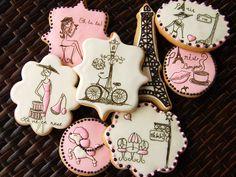 ♔ Pink Paris cookies.