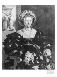 Portrait of Lucrezia Borgia (1480-1519) Giclee Print by Hendrik van Balen the Elder at Art.com