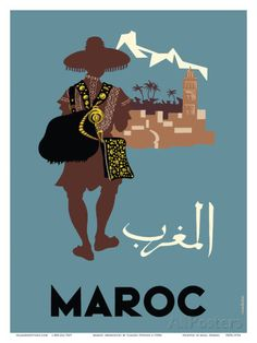 Maroc (Morocco) - Native Moroccan approaches town Reproduction d'art