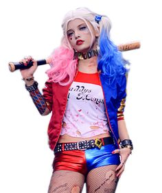 Movie: Suicide SquadCharacter: Harley QuinnSize: S, M, L, XL, XXL/Custom madeIncluding: An Outfit (Coat T shirt Belt Pants)Material: PU Cotton---------------------------------- Suicide Squad harley quinn outfit for halloween cosplay! High quality Pu material. Including: coat t shirt belt pants. You can cut holes in tshirt to improve its similarity. Support custom made, pls provide your measurements before place the order.