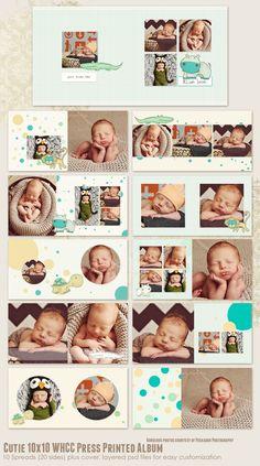 Artículos similares a Cutie WHCC Press Printed Album en Etsy Kids Photo Album, Digital Photo Album, Baby Photo Books, Baby Scrapbook Pages, Wedding Album Design, Photographing Babies, Instagram, Etsy, Templates