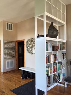 http://www.2uidea.com/category/Room-Divider/ IKEA KALLAX turns into high impact room divider