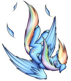 Rainbow Dash (Falling) by StrachAttack.deviantart.com on @DeviantArt