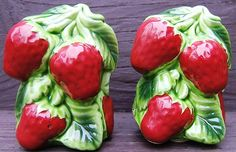 Look what I found on @eBay! http://r.ebay.com/Xb1PP2 Vintage Holt Howard HH Strawberries Strawberry Ceramic Salt Pepper Shakers JAPAN
