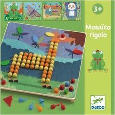 #mosaico by #Djeco Mozaiek Rigolo 3j from www.kidsdinge.com    http://instagram.com/kidsdinge   https://www.facebook.com/kidsdingecom-Origineel-speelgoed-hebbedingen-voor-hippe-kids-160122710686387/   #toys #Speelgoed #Kidsroom #Kidsdinge