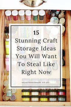 Organizing your craft supplies is not only fun, but also saves you from the mess and the headache - but how should you start? Click through to discover 15 craft storage ideas you will want to steal right now! Craft Storage Furniture, Craft Storage Cabinets, Storage Room Organization, Art Supplies Storage, Bead Storage, Art Storage, Craft Room Storage, Arts And Crafts Supplies, Storage Ideas