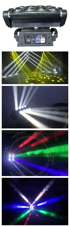 led spider beam moving head light 8 PCS rgbw 4 in 1 (only white )10W LED beam bar light ①8/21 channels ②Beam angle:3 degree welcome to http://www.wavestage.net
